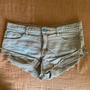 Free People Irreplaceable Tan Cutoff Shorts - 27